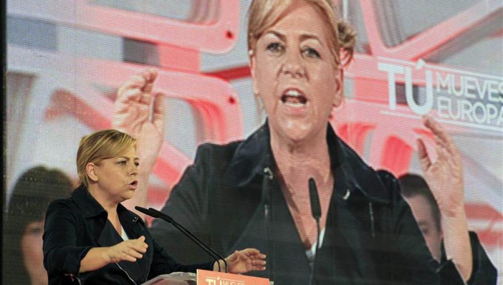 La cabeza de lista del PSOE al Parlamento Europeo, Elena Valenciano,
