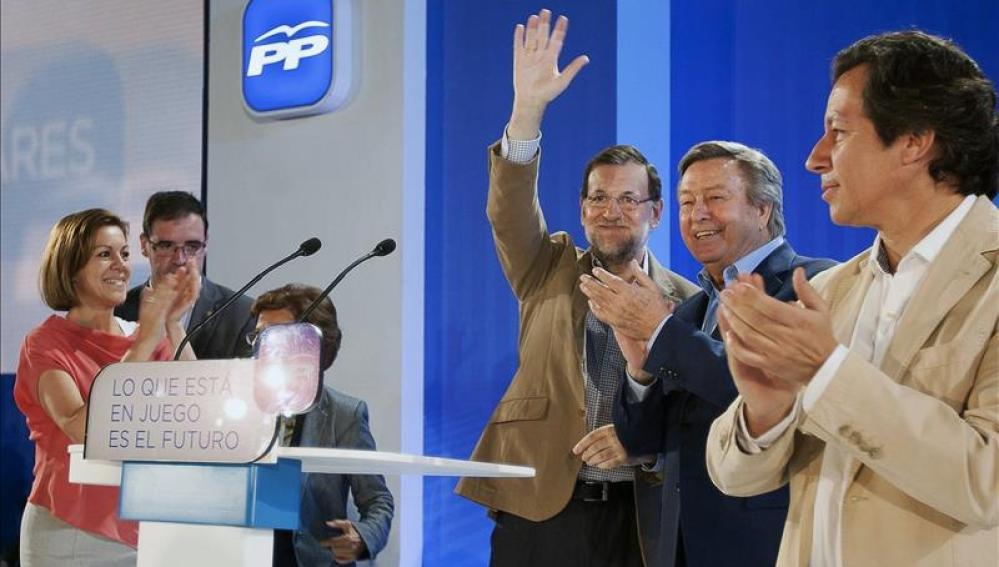 Mariano Rajoy durante el mitin