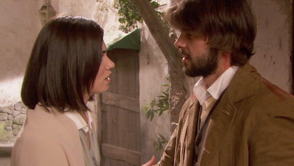 Gonzalo vuelve Puente Viejo y se reencuentra con María