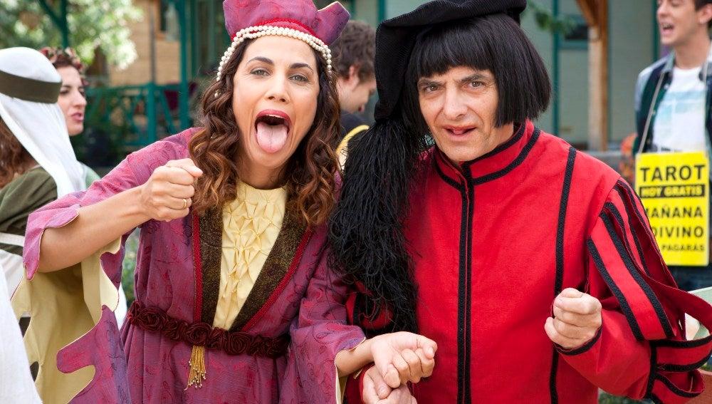 Toni Acosta e Iñaki Miramón haciendo el tonto ante la cámara