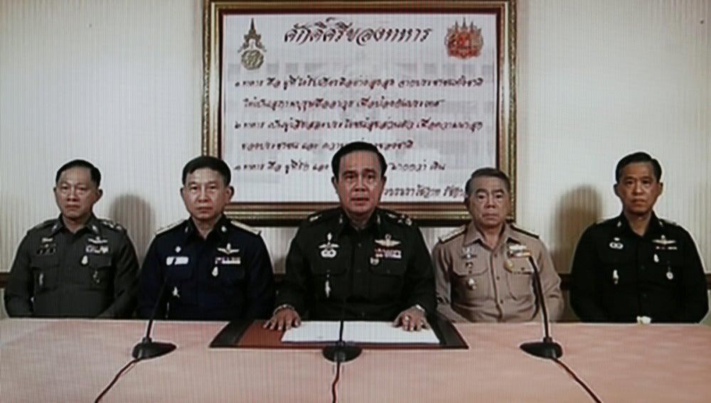 Prayuth Chan-Ocha, dando un discurso