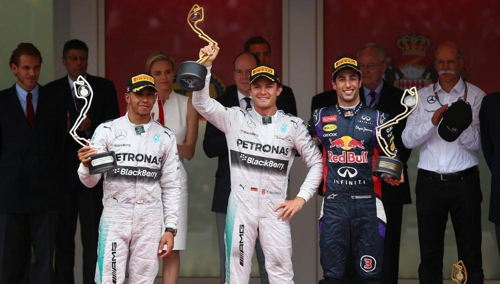 El podio del GP de Mónaco