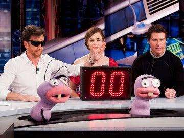 Pablo Motos, Emily Blunt y Tom Cruise en El Hormiguero 3.0
