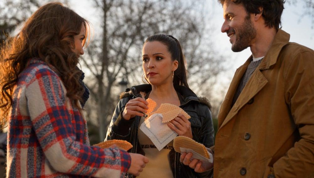 Amparo, Juan y María en Madrid