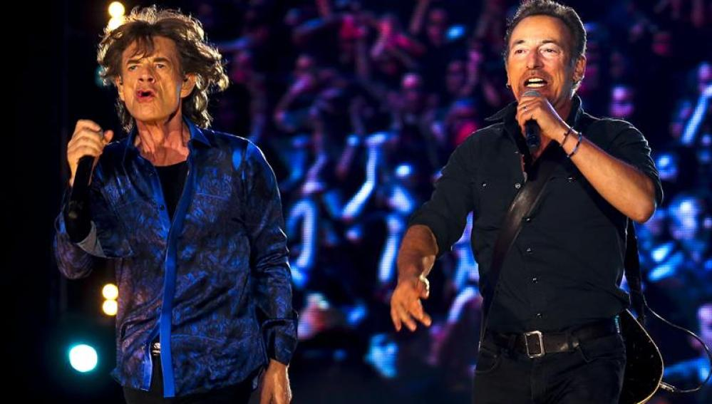 Mick Jagger y Bruce Springsteen