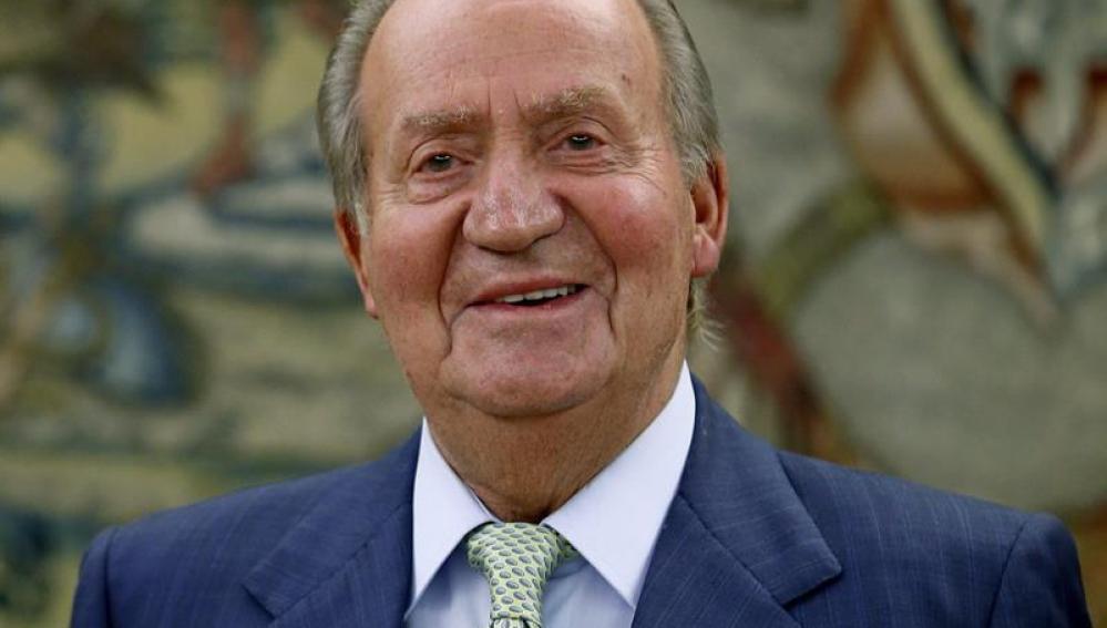 El Rey Juan Carlos durante la audiencia con el presidente de la Cámara de Comercio de EEUU