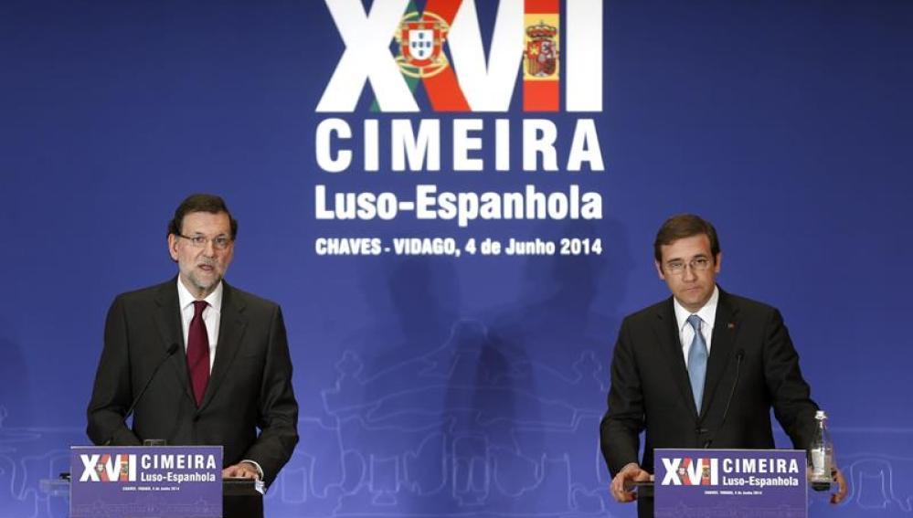 Rajoy y Passos Coelho.