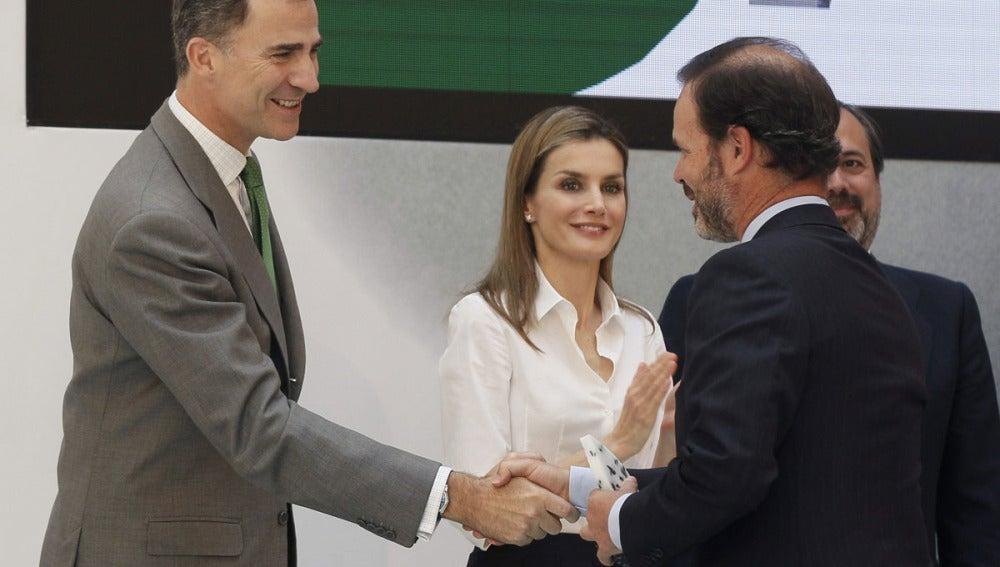 El Príncipe de Asturias y su esposa Letizia
