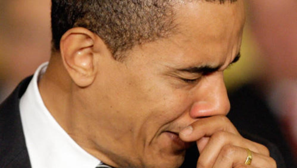 El mismísimo Barack Obama estornudando... ¡Con lo que ello implica!