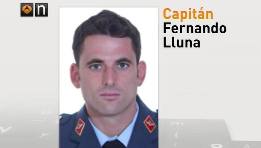 El capitán fallecido en el accidente, Fernando Lluna