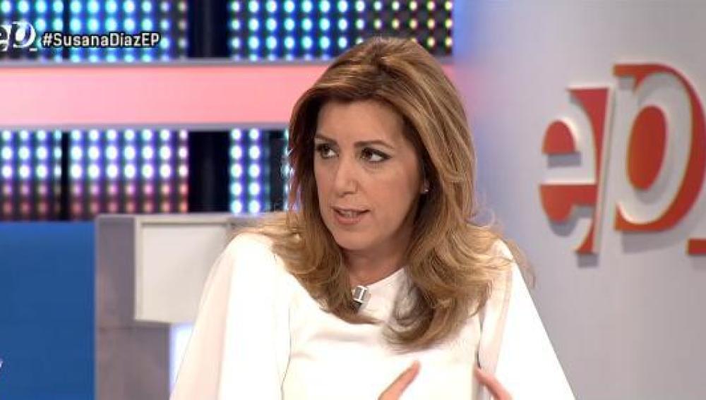 Susana Díaz, en Espejo Público