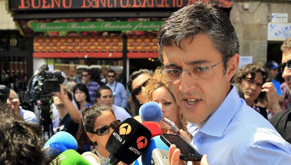 El aspirante a secretario general del PSOE, Eduardo Madina
