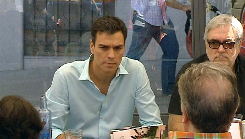 El diputado nacional socialista y candidato a la Secretaría General del PSOE Pedro Sánchez
