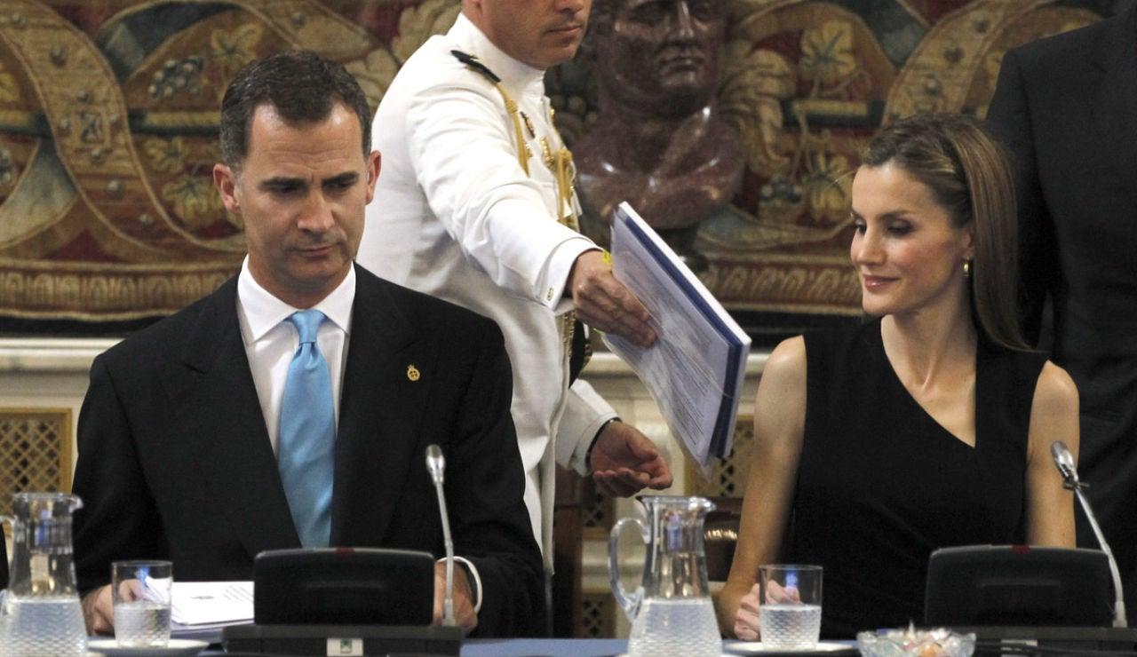 Los Príncipes de Asturias en un acto oficial