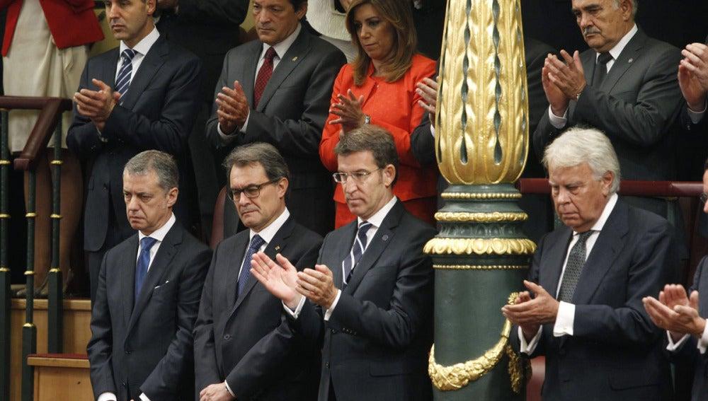 Artur Mas y Urkullu no aplauden en este momento