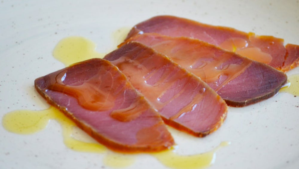 La mojama, caviar de pescado azul.