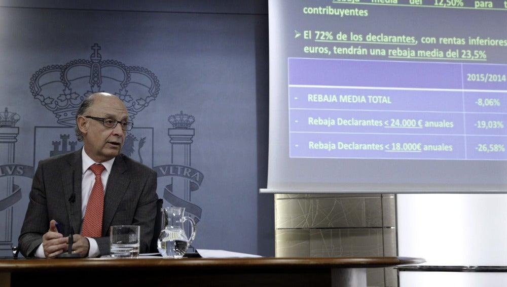 El ministro de Hacienda, Cristóbal Montoro, explica la reforma fiscal