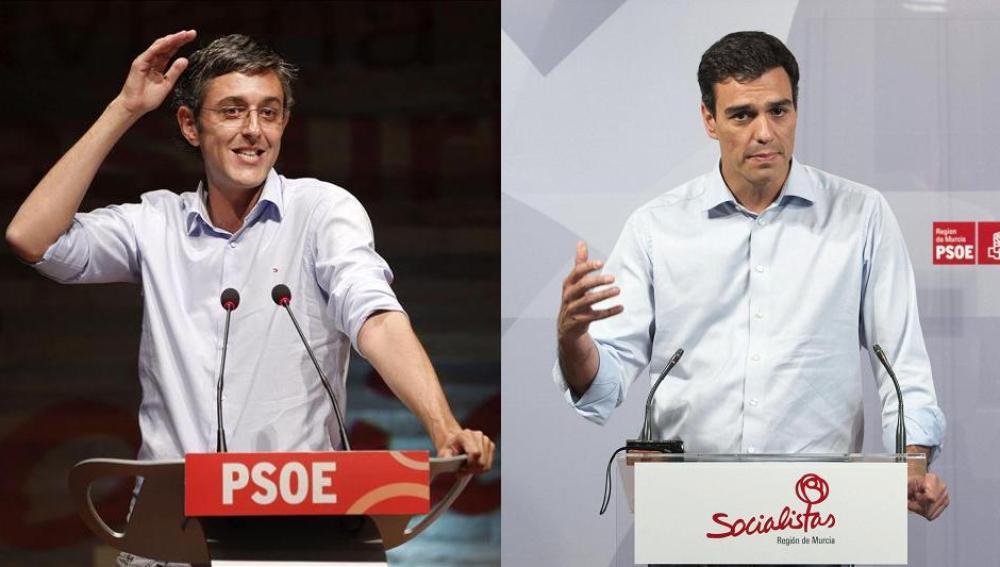 Eduardo Madina y Pedro Sánchez aspiran a la Secretaría General del PSOE