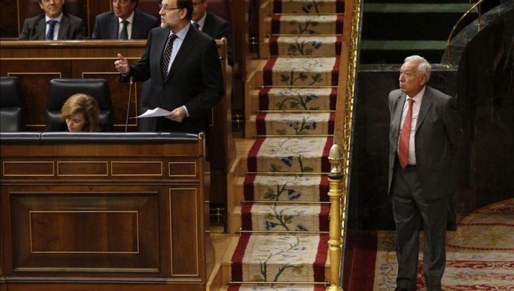 Rajoy comparece en el Congreso.