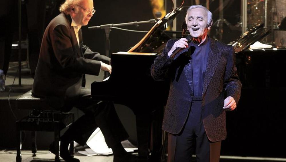 El cantante francés Charles Aznavour