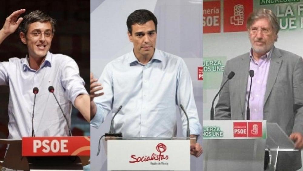 Los tres candidatos a liderar el PSOE