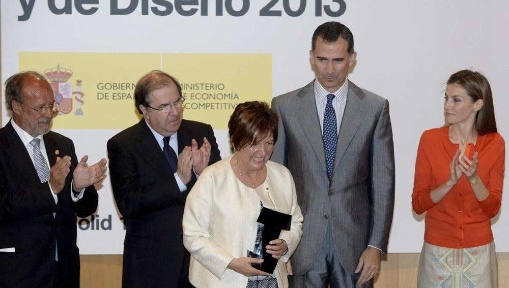 Los Reyes de España en la entrega de unos premios