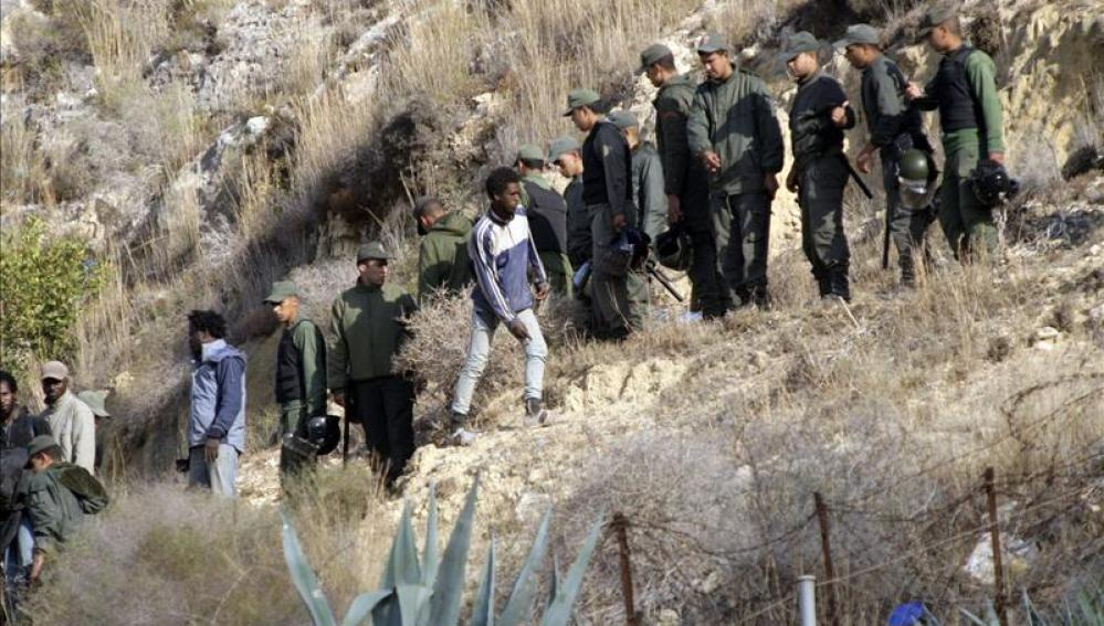 Se elevan a veinte los inmigrantes que han conseguido entrar hoy a Melilla