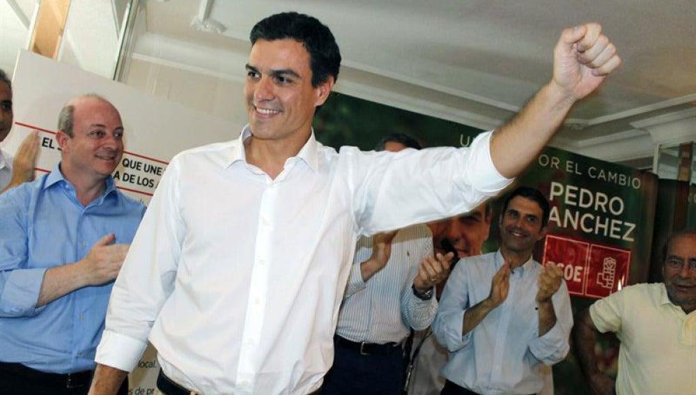 Pedro Sánchez en un acto en Toledo.