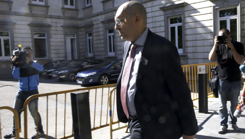El juez Elpidio José Silva sale del Tribunal Superior de Justicia de Madrid