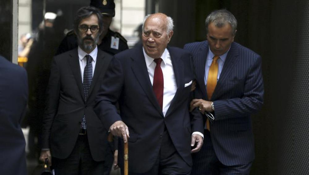 El extesorero del PP Álvaro Lapuerta, a su salida de la Audiencia Nacional