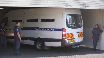 Imagen de archivo de un furgón de la Policía de Israel