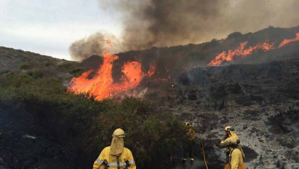 Incendio en Mijas