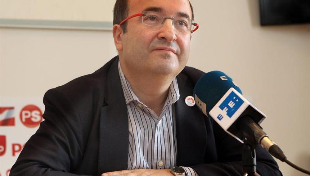 El futuro líder del PSC, Miguel Iceta