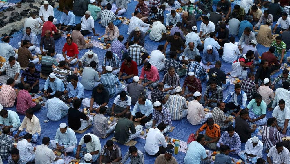Musulmanes durante el mes de ramadán