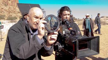 Michael Slovis en el rodaje de 'Breaking Bad'