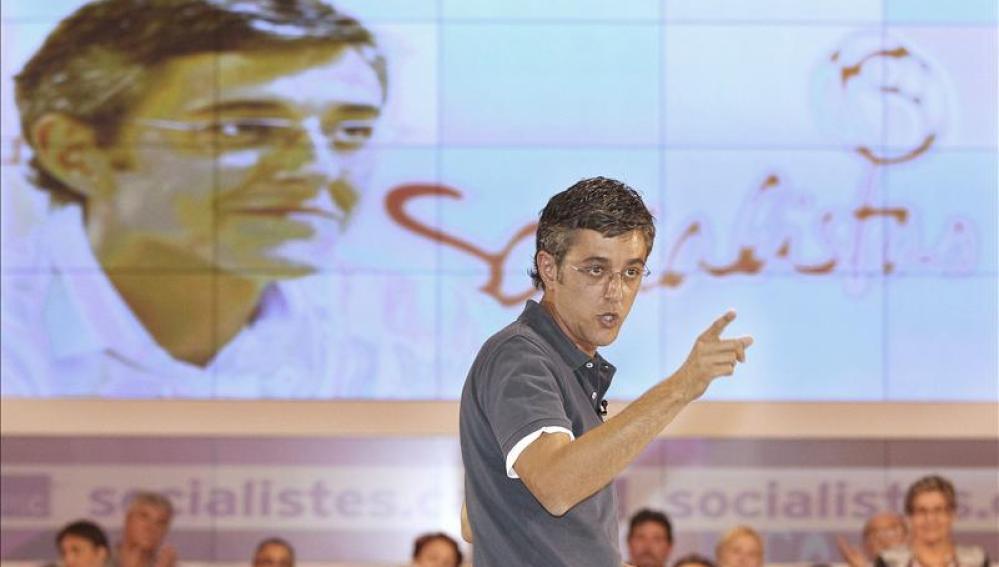 Madina durante el acto celebrado con la militancia socialista catalana para dar a conocer su proyecto.