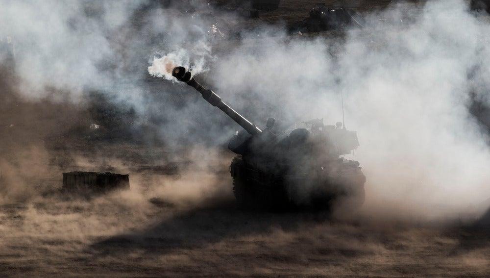 Ataque de la artillería de Israel