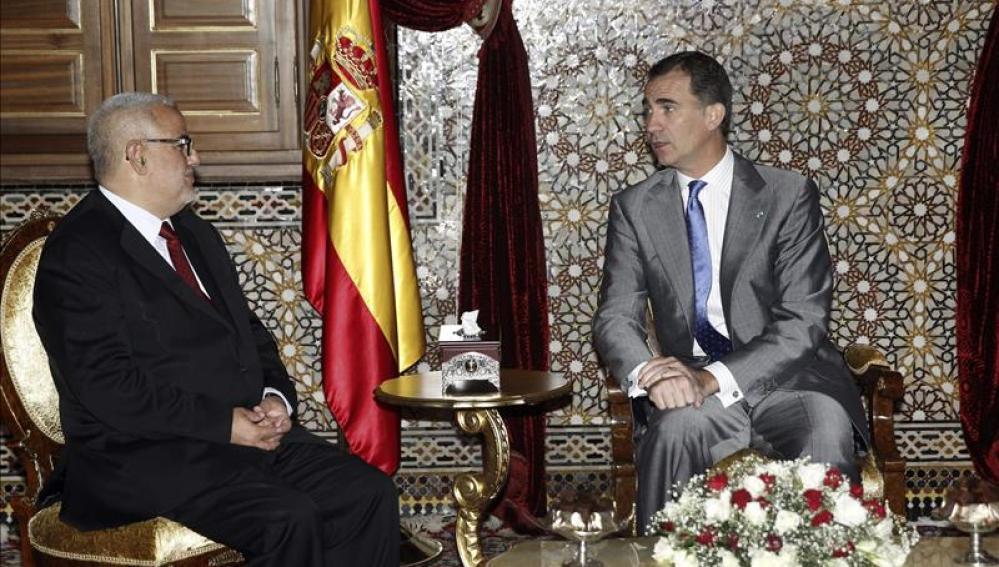 """Felipe VI y el presidente de Gobierno marroquí constatan las """"excelentes relaciones"""""""
