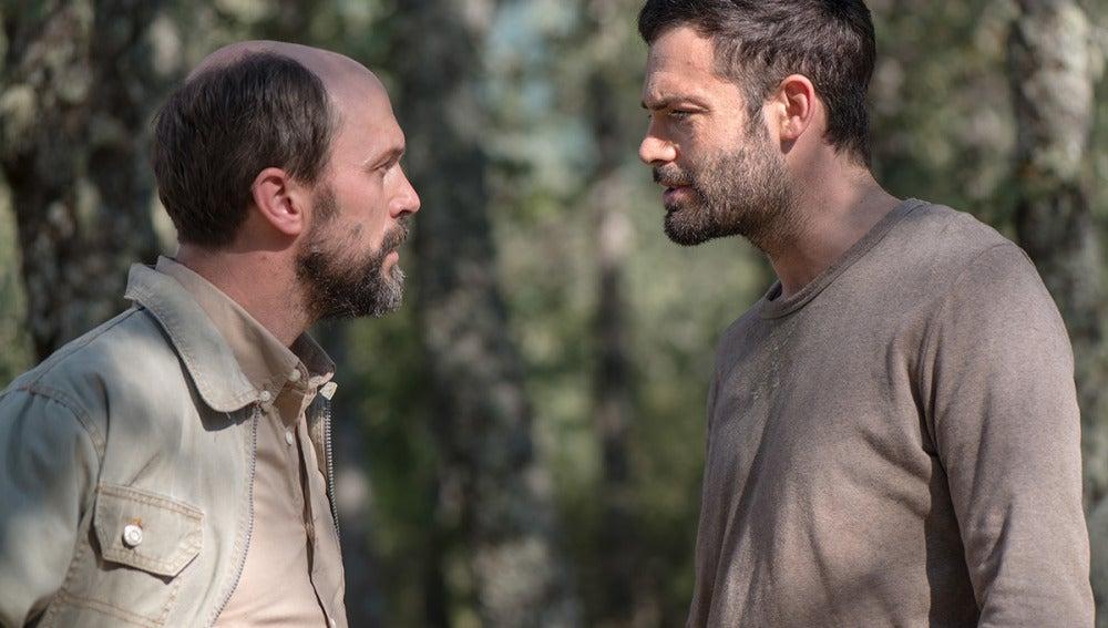 Alex y Samuel, dos de los protagonistas de 'Refugiados'