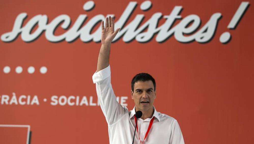 Pedro Sánchez, durante una comparecencia