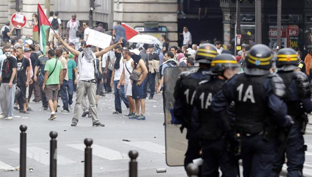 Manifestación propalestina en París