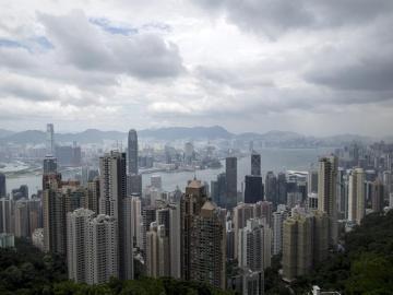 tifón Rammasun en Hong Kong