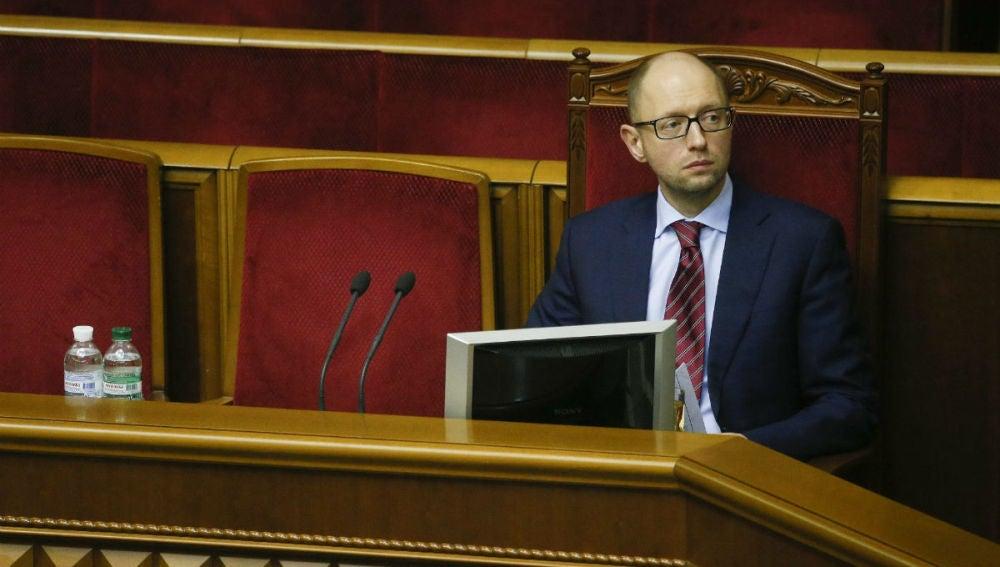 El primer ministro de Ucrania, Arseni Yatseniuk, en una imagen de archivo