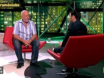 Ramón Lobo con Iñaki López en laSexta Noche