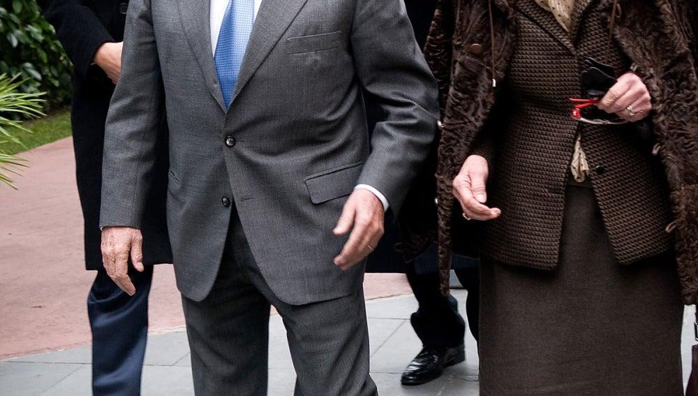 Jordi Pujol junto a su esposa en una imagen de archivo