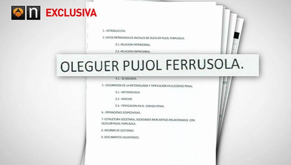 Informe de la UDEF sobre Oleguer Pujol Ferrusola