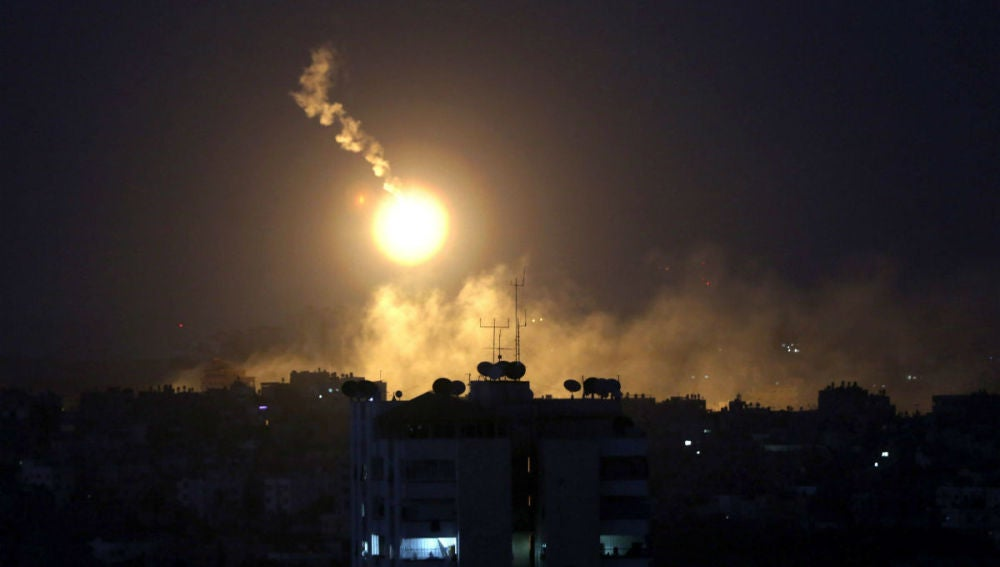 Imagen de UN bombardeo de Israel en Rafah