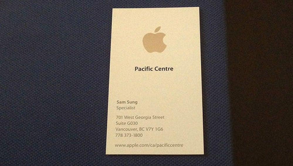 Tarjeta Apple de Sam Sung
