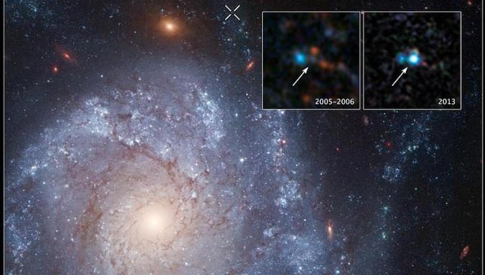 La débil supernova, llamada SN 2012Z, reside en la galaxia NGC1309