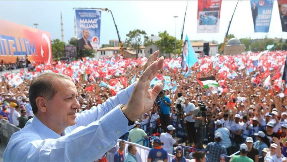 Erdogan en la localidad turca de Konya